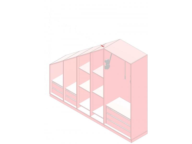 kleiderschrank variationsbeispiel dachschr ge 300 cm. Black Bedroom Furniture Sets. Home Design Ideas