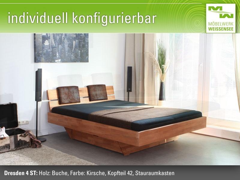 Massivholzbett schwebend  Betten und Massivholzbetten direkt vom Möbelwerk Weißensee