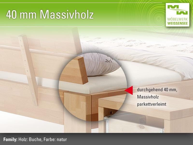 2060620509 Massivholzbett Family., Massivholzbetten Werksverkauf