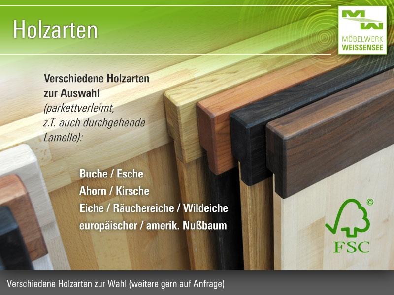 Verschiedene Holzarten massivholzbett venedig fußteilvariante 2 eiche massivholzbet