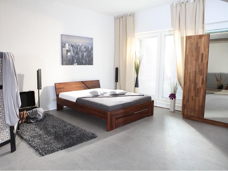 Best hochwertiges bett fur schlafzimmer qualitatsgarantie for Bett nussbaum