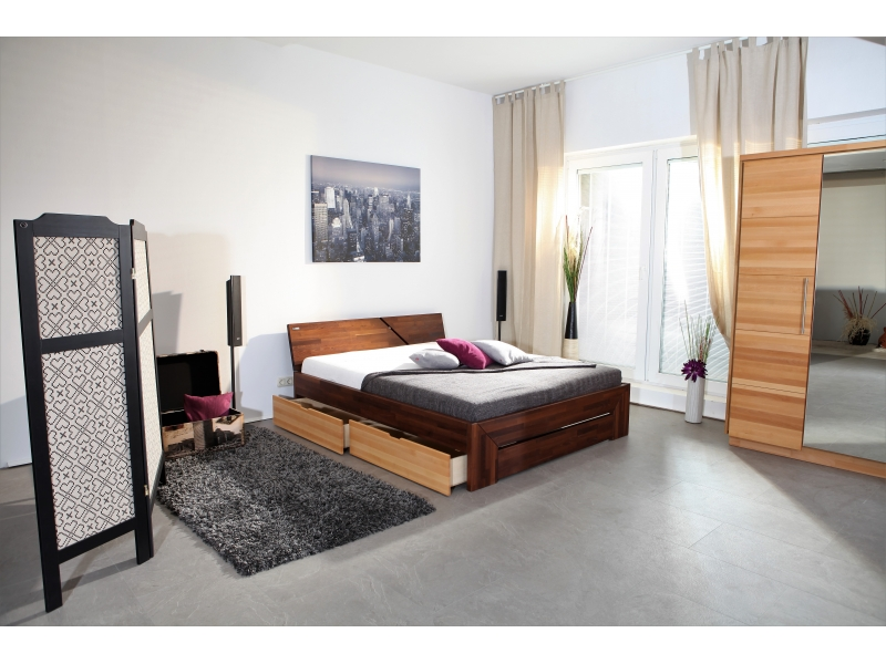 massivholzbett venedig fu teilvariante 3 schubladen st nussb. Black Bedroom Furniture Sets. Home Design Ideas